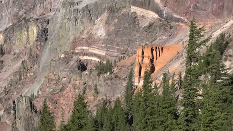 Oregon-Crater-Lake-View-Of-Pumice-Castle-Pan-And-Zoom