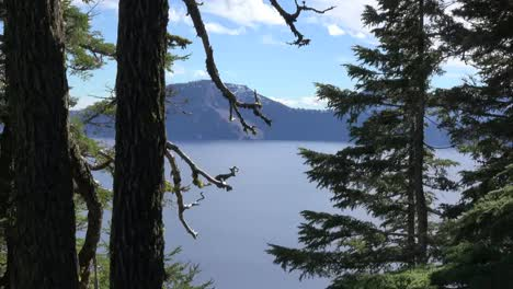 Oregon-Crater-Lake-Zoom-Past-Trees