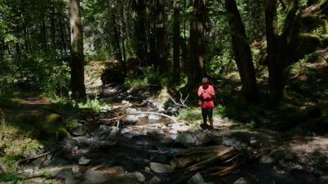 Oregon-Boy-Toma-Una-Foto-Por-Stream-Pan