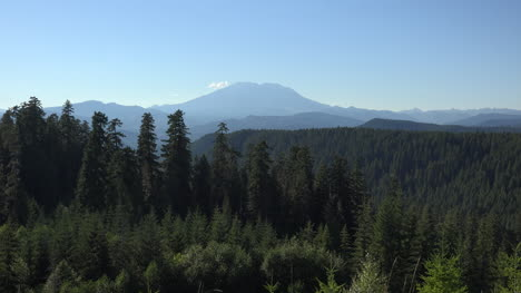 Washington-Se-Enfoca-En-El-Monte-Saint-Helens-Retroiluminado