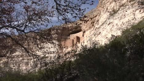 Arizona-Montezuma-Castle-Framed-With-Leaves-Zoom-Out