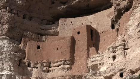 Arizona-Montezuma-Castle-On-Cliff-View-Pan-Right