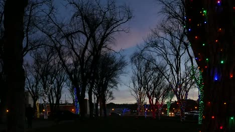Arizona-Prescott-Christmas-Twilight-Pan-Right