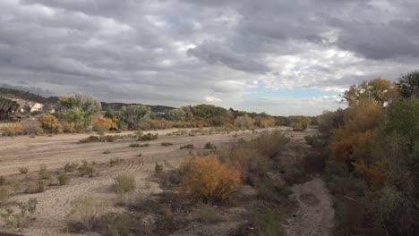 Arizona-Wickenburg-Dry-River-Bed-And-Shifting-Light