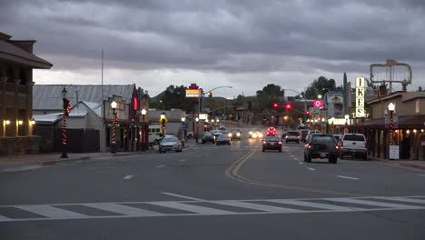 Arizona-Wickenburg-Main-Street-In-Evening-Time-Lapse