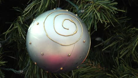 Christmas-Ball-Silver-With-Pink-Reflections