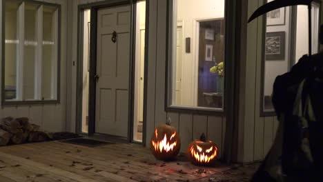 Halloween-Boy-In-Mask-Leaves