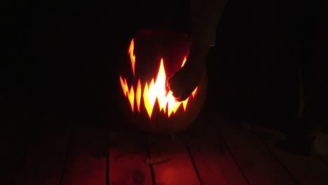 Halloween-Hand-By-Jack-O-Lantern