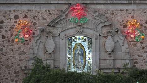 Mexico-Arandas-Virgin-Of-Guadalupe-On-Church
