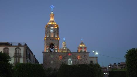 Mexico-Arandas-Church-With-Lights-At-Night