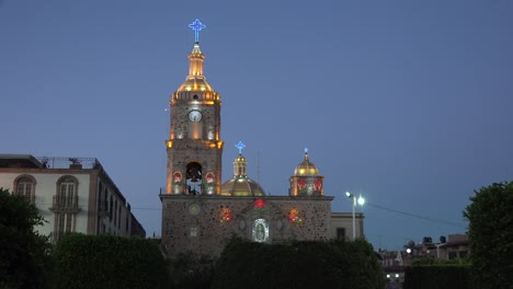 Mexico-Arandas-Man-Rings-Bell-With-View-Of-Church-Tower-With-Sound
