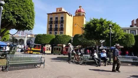 Mexico-Arandas-Plaza-With-Small-Train
