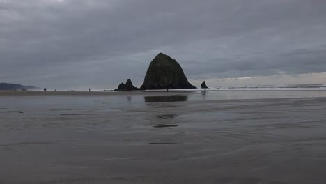 Oregon-Haystack-Rock-At-Cannon-Rock-With-Stream