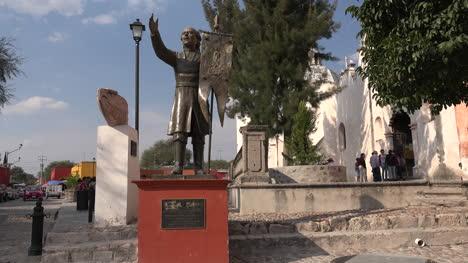 Mexico-Atotonilco-Father-Hidalgo-Statue-By-Church