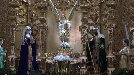 México-Atotonilco-ángel-Y-Pesebre-Escena-En-La-Iglesia