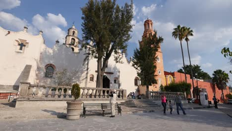 Mexico-Atotonilco-Church-And-Tourist-Taking-Photo