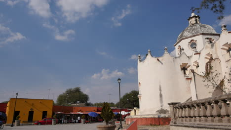 Mexico-Atotonilco-Church-Dome-And-Colorful-Buildings