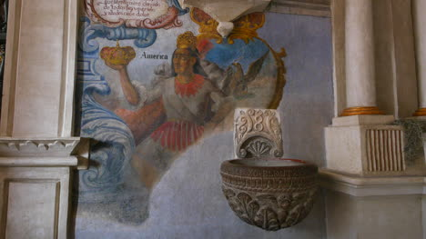 Mexico-Atotonilco-Painting-Of-America-In-Church