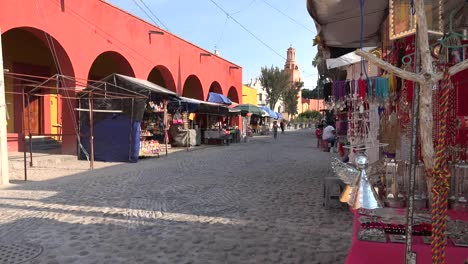Mexico-Atotonilco-Street-With-Sales-Stands