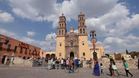 Mexico-Dolores-Hidago-Man-Steps-Up-To-Photograph-Church