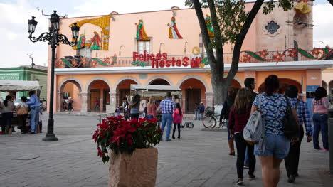 Mexico-Dolores-Hidalgo-Feliz-Fiestas-On-Building