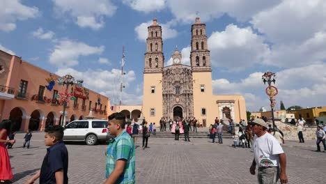 Mexico-Dolores-Hidalgo-People-In-Front-Of-Church