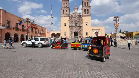 Mexico-Dolores-Hidalgo-Toy-Train-And-Church