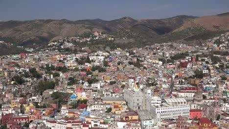 Mexico-Guanajuato-City-With-Buildings-In-Sun