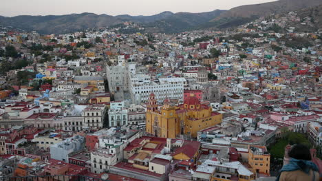 Mexico-Guanajuato-Lovely-View-With-Yellow-Church