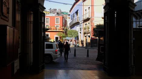 Mexico-Guanajuato-Street-Car-And-People