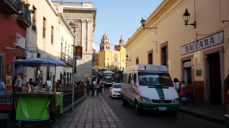 Mexico-Guanajuato-Traffic-And-Church-Beyond