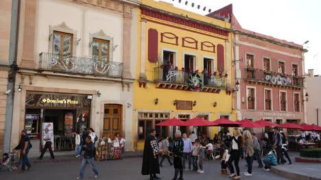 Mexico-Guanajuato-Umbrellas-And-Yellow-Building