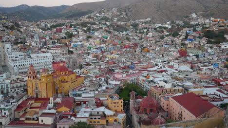 Mexico-Guanajuato-View-With-Yellow-Church