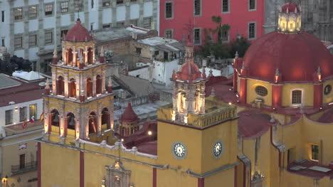 Mexico-Guanajuato-Yellow-Church-With-Red-Dome