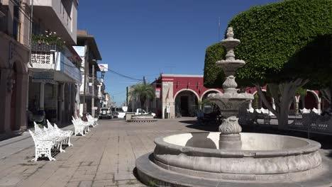 Mexico-San-Julian-Benches-By-A-Fountain