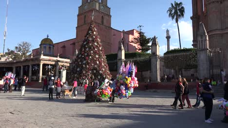 Mexico-San-Miguel-Christmas-Tree-And-People-In-Plaza