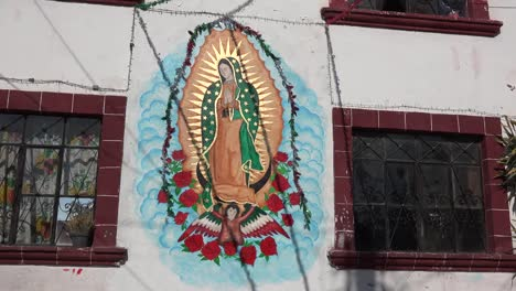 Mexico-San-Miguel-Virgin-Of-Guadalupe-On-House-Wall