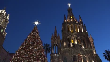 Mexico-San-Miguel-Church-And-Christmas-Tree