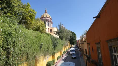 Mexico-San-Miguel-Church-Dome-And-Narrow-Street