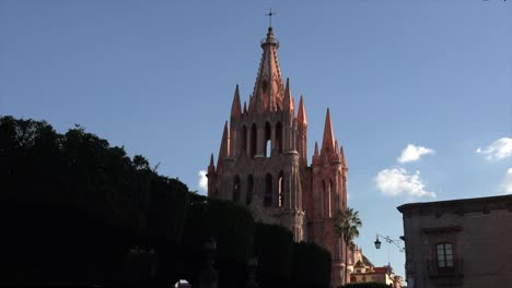 Mexico-San-Miguel-Church-Tower-In-Late-Evening