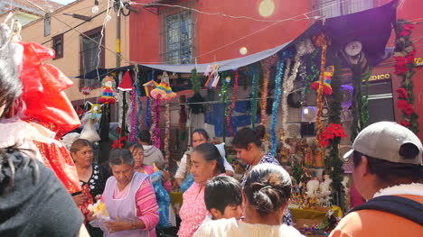 Mexico-San-Miguel-People-And-Sun-Flare-In-Market