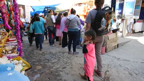 Mexico-San-Miguel-People-In-Market-With-Children