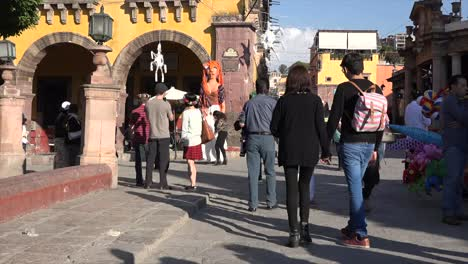 Mexico-San-Miguel-People-In-Plaza