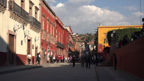 Mexico-San-Miguel-People-On-Street-In-Golden-Light