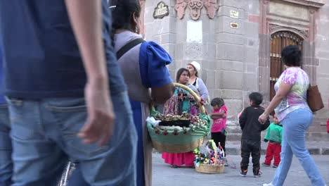 Mexico-San-Miguel-Street-Corner-With-Vendor-And-Tourists