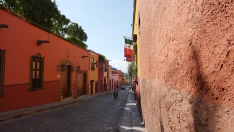 Mexico-San-Miguel-Street-With-Motorbike