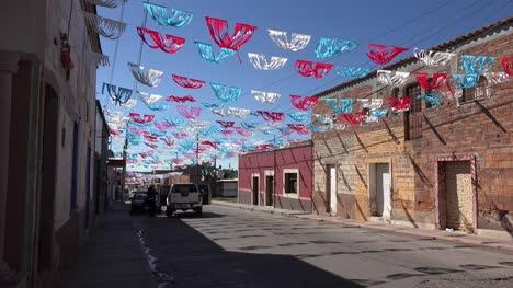 Mexico-Santa-Maria-Street-With-Decorations