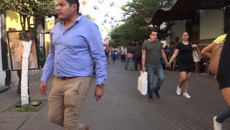 Mexico-Tlaquepaque-People-On-Walkway