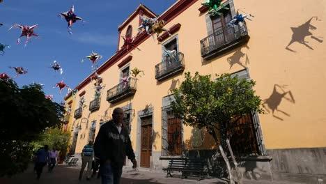 Mexico-Tlaquepaque-Pinata-Shadows-On-Building