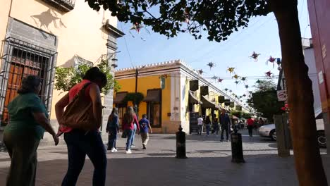 Mexico-Tlaquepaque-Street-Time-Lapse-With-People-Walking